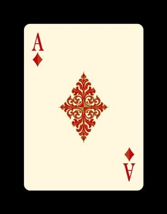 """Ace of Diamonds -Bicycle """"Venexiana"""" deck of playing cards by Half Moon Playing Cards"""
