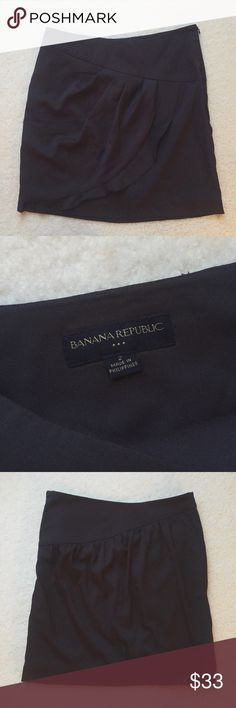 "Banana Republic dark gray A-line skirt ⋈ Banana Republic gray / grey asymmetrical ruffle skirt ⋈ Measurements: waist - 14.5"", length - 17.5"" ⋈ Purchased from Banana Republic Factory Store ⋈ Price is negotiable! Banana Republic Skirts A-Line or Full"
