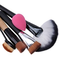 5PCS Brush Powder Puff Makeup Tool Set ($12) ❤ liked on Polyvore featuring beauty products, makeup, makeup tools and makeup brushes
