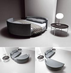 Circular Sofa Bed Slinks: n. (slingks) Surreptitious web links to other good sites | Apartment Therapy