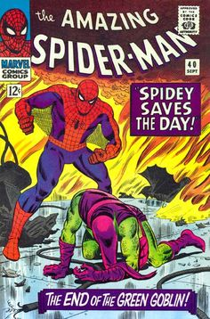 "The Amazing Spider-Man #40 (Marvel Comics Group) – ""Spidey Saves The Day!"" – The End of The Green Goblin!"