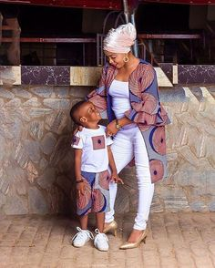 Momma and her prince Baby African Clothes, African Dresses For Kids, Latest African Fashion Dresses, African Print Fashion, African Wear, African Attire, Ankara Fashion, Africa Fashion, Tribal Fashion