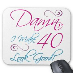 40th Gifts Mouse Pads