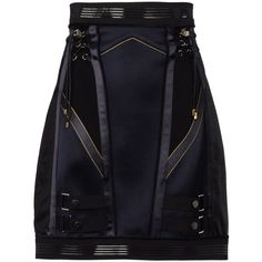 ANTHONY VACCARELLO Mini skirt ($2,290) ❤ liked on Polyvore
