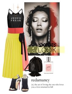 """#PowerLook: Love Requited"" by spicedblossom ❤ liked on Polyvore featuring Marni, Kenzo, Christian Louboutin, Barbara Bonner, philosophy, Divine Silver and powerlook"