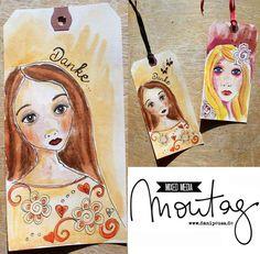Tutorial von Britta Häusler für www.danipeuss.de: Geschenk-Tags nach Suzi Blu | #MixedMediaMontag