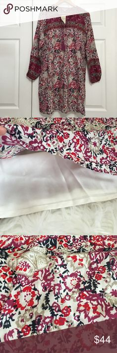 Lucky Brand Bohemian Style Tunic Adorable boho tunic with lining inside, just lovely. Size Small Lucky Brand Tops