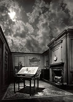 Surreal, spiritual and thought-provoking images of Jerry Uelsmann, the master of photomontage, done in darkroom (not digital, no photoshop).