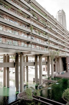 The Barbican. Gilbert House and the Lakeside Terrace.
