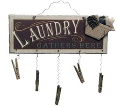 Ohio Wholesale Clothespin Laundry Sign Wall Art, from our Laundry Collection by Ohio Wholesale, http://www.amazon.com/dp/B001L1IIS8/ref=cm_sw_r_pi_dp_rH-Drb1PP7J5P