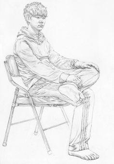 대구화실, 미술, 회화, 정물수채화, 정물소묘, 인체수채화, 인체소묘, 입시미술, 취미미술, 그림 과정작 자료실 Human Figure Sketches, Human Sketch, Figure Sketching, Figure Drawing, Drawing Sketches, Pencil Drawings, Art Drawings, Gesture Drawing, Body Drawing