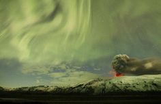 New images of the continuing eruption of Iceland's Eyjafjallajokull volcano.