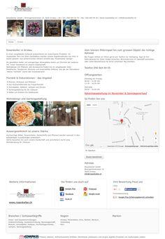 Rosenkeller GmbH, Aristau, Inneneinrichtung, Ausseneinrichtung, Blumengeschäft