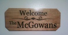 Personalized Wooden Sign, Wood, Engraved, Custom made, gift, last name.