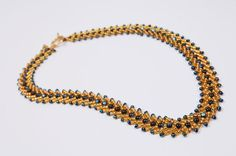 St Petersburg Necklace  •  Free tutorial with pictures on how to make a woven bead necklace in under 30 minutes