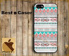 iPhone 5 Case iPhone Case Hard Plastic or Silicon Rubber iPhone Cover for iPhone 4 / 4S / iPhone5 - Aztec pattern