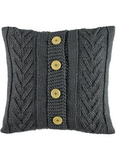 Living – Living Room Decor, Furniture & furnishings, Page 2 Cable Knit Cushion x Knitting Stitches, Hand Knitting, Knitting Patterns, Knitted Cushions, Knitted Blankets, Fabric Remnants, Fabric Strips, Diy Pillows, Decorative Pillows