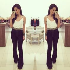 Calça Flare Jeans Cintura Alta - Moriah Store