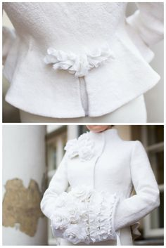 Snowy and dreamy clothes by Lija Janauskiene. Made with our materials. They…