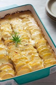 Perfect for holiday meals or dinner parties, this Aged Gouda Cheese Potato Gratin gives a unique twist to a typical cheesy potato dish. Your guests will be asking for the recipe. Gouda Cheese Recipes, Gouda Recipe, Cheesy Recipes, Potato Recipes, Side Recipes, Potluck Recipes, Veg Recipes, Yummy Recipes, Cheese Ingredients