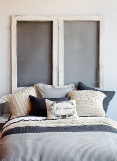 A softly striped bedding from lightweight linen creates a quaint and sweet aesthetic in any bedroom.