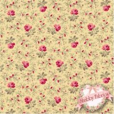 "Lakehouse Penelope 11045 Yellow by Holly Holderman for Lakehouse Dry Goods: Lakehouse Penelope 4, 5, 6 by Holly Holderman for Lakehouse Dry Goods.  100% cotton, 44""/45"" wide.  This fabric features dark pink roses and vines on a yellow background."