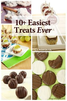 The 10 Easiest Treats Ever -  perfect to have on hand when you need a cute treat that will impress people and doesn't take a lot of time or $ to put together!