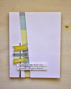 Wherever You Go Card by Maile Belles for Papertrey Ink (March 2015)