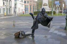 TRAVEL STOCK De Vaartkapoen statue in Place Sanctelette Brussels Flanders Belgium - Travel Library/Rex Shutterstock/Rex Features/Rex Images