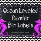 Ocean Themed Leveled Reader Labels- Cute Chevron Ocean Leveled Reader Bin Labels. This product includes labels for A-Z and blank labels. Labels can...