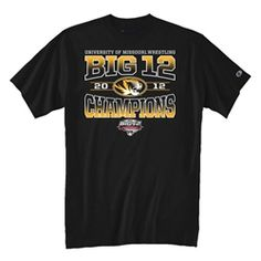 2012 Missouri Big 12 Wrestling Champions Shirt