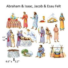 Abraham & Isaac Felt Figures for Flannel Board Bible Stories-precut