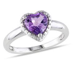 $19.99 - Sterling Silver 1 Carat Amethyst Fashion Ring