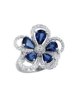 Effy Jewelry Jardin Petals Sapphire and Diamond Ring