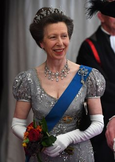 The Princess Royal before the Guildhall Banquet for the King and Queen of Spain on 13 JULY 2017