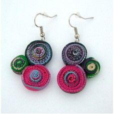 Fülbevaló - Spirál kollekció - 0202 Spiral, Crochet Earrings, Jewelry, Jewlery, Jewels, Jewerly, Jewelery, Accessories
