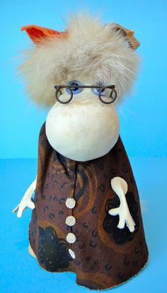 Vintage MOOMIN troll HEMULEN by ATELIER FAUNI, rare 1960s Muumi Moominvalley
