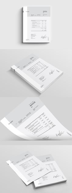 Fashion Invoice Template InDesign INDD Invoice Design, Letterhead Design, Stationary Design, Book Design, Layout Design, Design Elements, Brand Identity Design, Corporate Design, Personal Identity