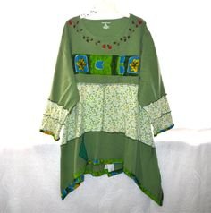 Recycled shirt tunic summer dress