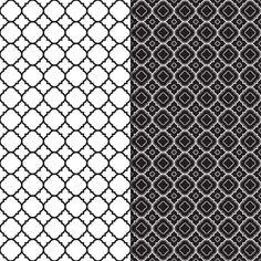 Download Digital Paper Pack Mod Trellis Monochrome Online | Gidget Designs