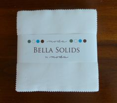 """Cotton Fabric, Quilt Fabric, Craft, Moda Bella Solids White, Charm Pack, 5"""" Squares, 42 Squares, Fast Shipping,CP201"""