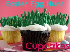 Easter Egg Hunt cupcakes. Adorable