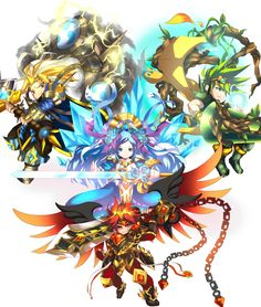 "Brave Frontier ""Fab Four"""