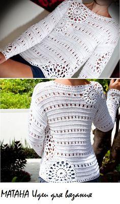 Gilet Crochet, Crochet Jumper, Crochet Jacket, Crochet Cardigan, Cute Crochet, Knit Crochet, Knitting Daily, Crochet Fashion, Crochet Clothes