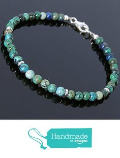 Amazon Handmade Men and Women Bracelet with 4.5mm Chrysocolla Beads and Genuine 925 Sterling Silver Spacers, Clasp & Beads from DiyNotion http://www.amazon.com/dp/B016QJS0VO/ref=hnd_sw_r_pi_dp_pY3gxb04MYWM2 #handmadeatamazon