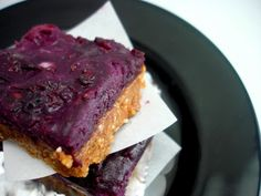 No Bake Sticky Berry Bars	 #PaleOMG