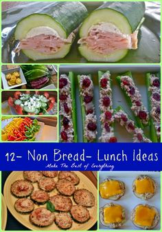 A great collection of breadless lunches