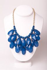 Navy Teardrop Necklace | Silkworm Boutique