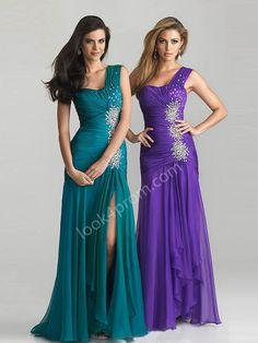 Sheath/Column Chiffon Evening Dresses, Bridesmaid Dresses