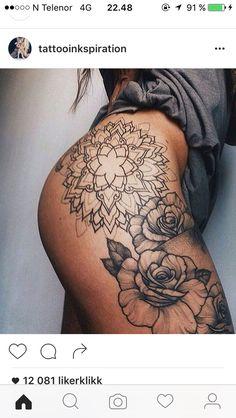 Mandala hip thigh rose